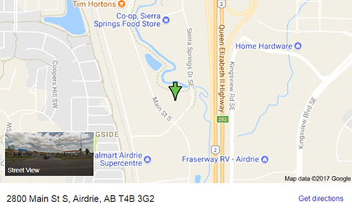 The Allstate Airdrie Agency Map