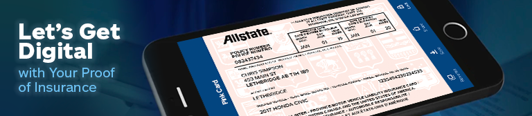 Pink Card on the Allstate App
